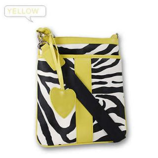 Zebra Print Messenger Satchel Shoulder HandBag Crossbody Womens Lady