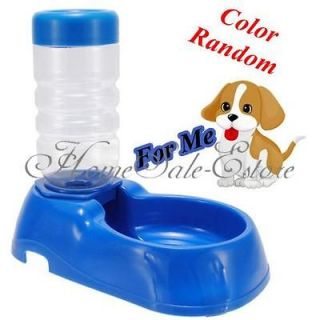 Dog Cat Bowl Automatic Bottle Water Drinking Dispenser Feeder Fountain