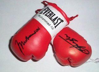 Muhammad Ali v ????? Autographed Mini Boxing Gloves