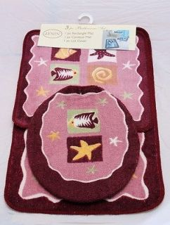 ... Pink Bathroom Mat Rug Set (Bathroom Rug, Contour U0026 Lid Cover Set ...