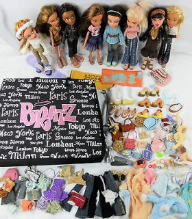 HUGE BRATZ DOLL LOT Girl Dolls Clothes Outfits Shoes Accessories