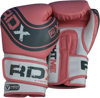 Auth RDX Ladies Pink Pro Gel Boxing Gloves Bag MMA Womens Gym Pads 8oz