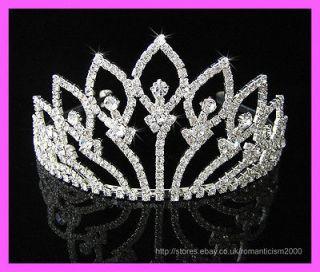 Wedding/Bridal crystal veil tiara crown headband CR094