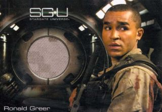 Stargate SG U costume card Jamil Walker Smith as Ronald Greer Universe