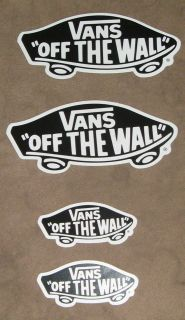 Vans Off the Wall Stickers Bumper SkateBoard Surfing 2 Sizes