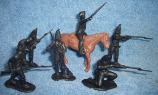 CTS Revolutionary War Hessian Soldiers 1/32 Black 14pcs