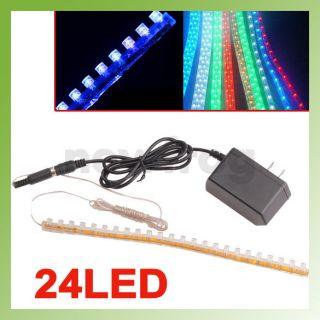 New Blue Aquarium Fish Tank 24 LED Flexible Light Strip Bar Light