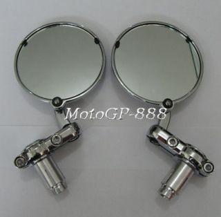 End Mirror Handle CHROMED Universal Indian Aprilia Bobber Buell KTM