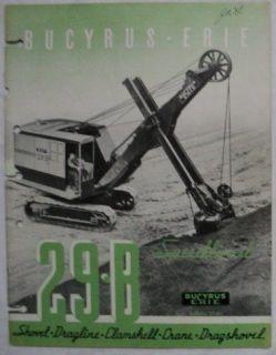 Bucyrus Erie 1940 29B Shovel, Dragline, Crane Brochure