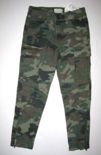 Girls CHILDRENS PLACE Camo Skinny PANTS Jeans 4 5 6 6x 7 8 10 Green