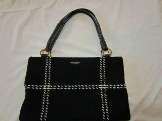 Authentic Kate Spade black and white handbag gorgeous raspberry suede