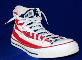 Made in USA American Flag Converse All Star Chuck Taylor High Top