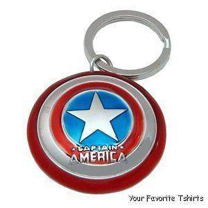 Licensed Marvel Captain America Shield Avengers Keychain Key Ring