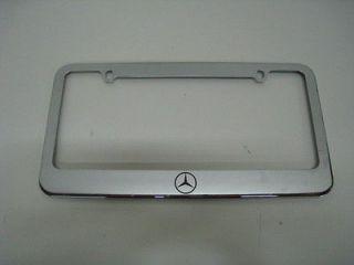 LOGO   chrome metal license plate frame + FREE 2 CAPS (Fits S550