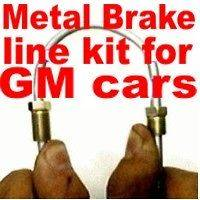 Metal brake line kit Caprice Malibu Chevelle 1967 to 90 replace rusted