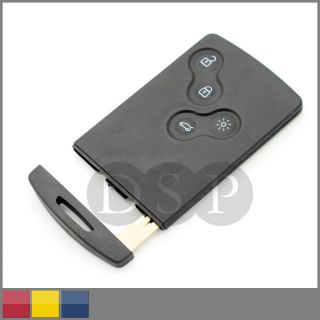 Remote Smart Card Key Case For RENAULT Koleos SmartCard 4 Button Key