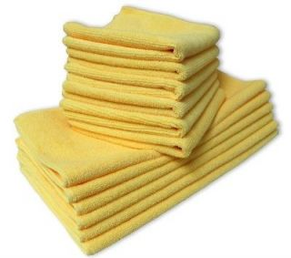 Blue Microfiber 16x16 Cleaning Cloths Household Polishing Towel Rags