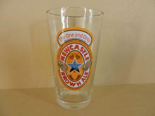 Single Newcastle Brown Ale British Shaker Pint Beer Glass