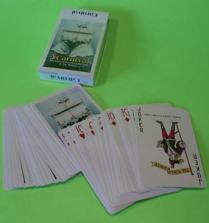 DECK OF CARNIVAL CRUISE LINES PLAYING CARDS~EUC~52 CARDS PLUS 2 JOKERS