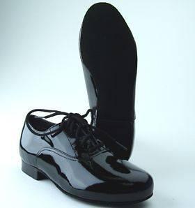 Capezio Boys Ballroom Dance Shoes Blk Patent BR02CP NIB