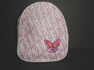 Girls Kids Children White And Pink Sparkle Butterfly Back Pack New