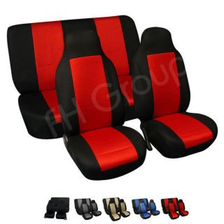 FH FB102112 Fabric Car Seat Covers Solid Bench Black (Fits S10 Blazer