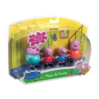 Fisher Price PEPPA PIG 4 Pack Family Figures~George Mummy & Daddy~New