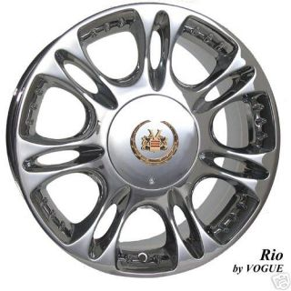 Excellent 17 inch Chrome Gold VOGUE RIO Wheels Cadillac
