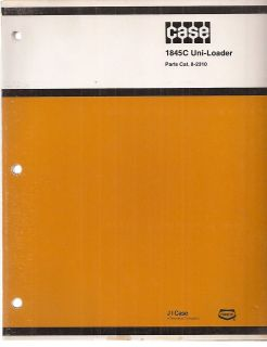 Case 1845C Uni Loader Skid Steer Loader Parts Manual