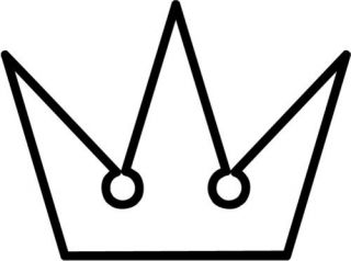 kingdom hearts crown japanese game sticker car decal