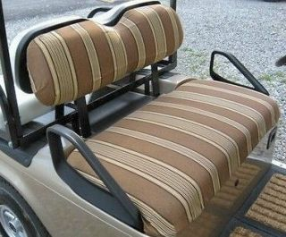 Golf Cart Seat & Back Covers EZGO TXT 1995 & UP SUNBRELLA   66 colors
