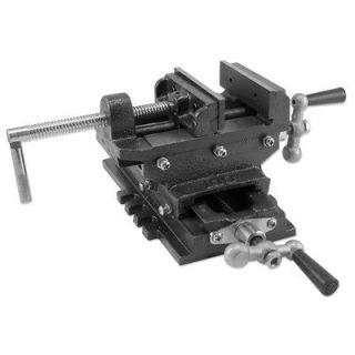 Heavy Duty Cross Slide Drill Press Shop Vise Cast Iron