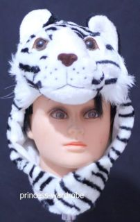 For Halloween White Tiger Big Cat Hat Party Costume ONE Free Size Gift