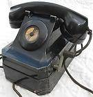 Vintage 1940's Black Hand Crank Telephone~Stromberg Carlson Model 3