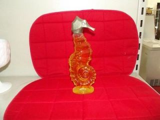 listed Big Sea Horse vintage avon perfume bottle with original liquid