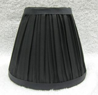 New BLACK Pleated Mini Chandelier Lamp Shade