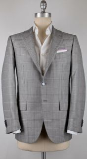 New $5550 Cesare Attolini Navy Blue Sportcoat 36/46