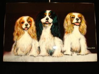 Lacquer Art CAVALIER KING CHARLES SPANIEL DOG Picture