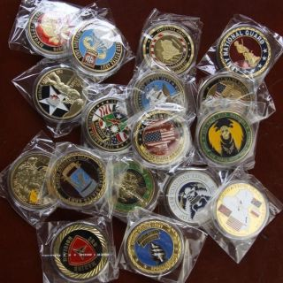 Lot of 17 Different Military Challenge Coins /S542