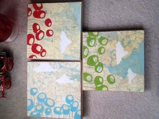 Rachel Ann Austin 2007 Map buffet oil Paintings (Allendale, Middletown