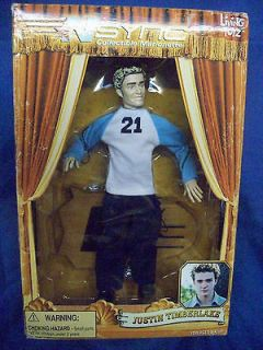 Justin Timberlake NSYNC collectable marionette doll action figure MIB