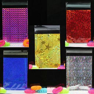 x9 Glitter Metallic Lip&Tape Cello Cellophane Party Favors Gift Bags