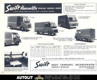 1965 Chevrolet Swift Step Van Truck Ad