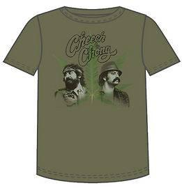 CHEECH & CHONG T Shirt  PHOTO LEAF ARMY S/L/XL  NEW*