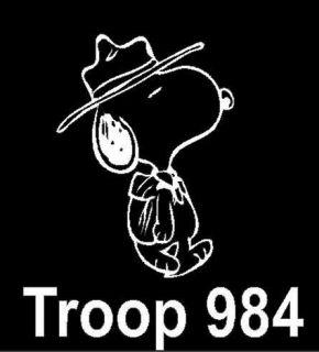 Happy Dancing Snoopy Vinyl Decal Sticker