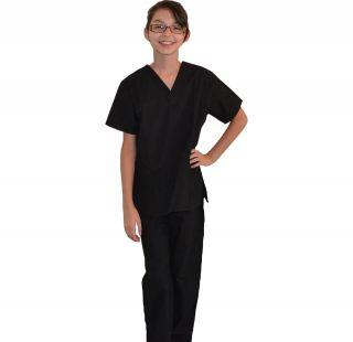 Kids Scrubs Black REAL Childrens Doctor and Nurse Scrub Sets