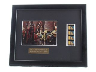 Charlton Heston Ten Commandments Framed Movie Film Cells Plaque 11x9