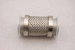 Stainless Steel Braided Corrugated Connector Pipe, 2 ID, Sanitary