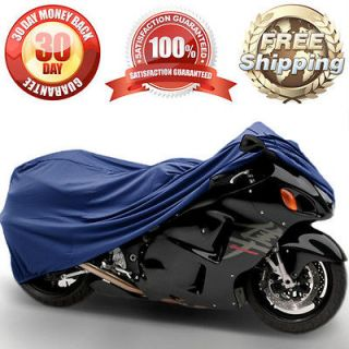 MOTORCYCLE SPORT STREET BIKE TRAILERABLE TRAVEL DUST COVER BLUE
