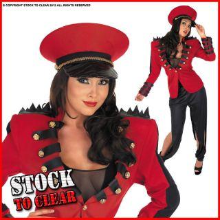 Costume Cheryl Cole Pop Star Soldier Ladies Fancy Dress